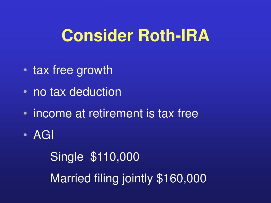 Consider Roth-IRA