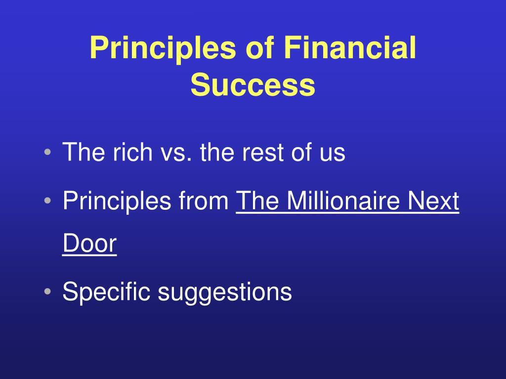 Principles of Financial Success