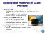 educational features of igert projects