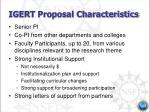 igert proposal characteristics