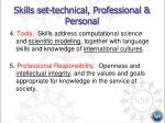 skills set technical professional personal5