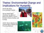 theme environmental change and implications for humanity