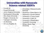 universities with nanoscale science related igerts
