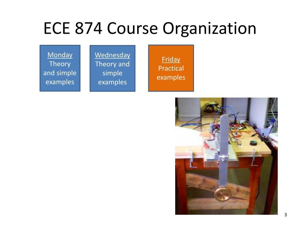 PPT - ECE 874 Course Organization PowerPoint Presentation