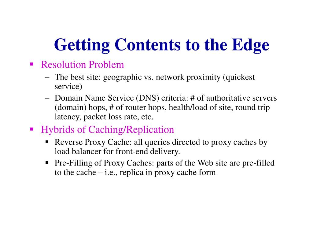 Getting Contents to the Edge