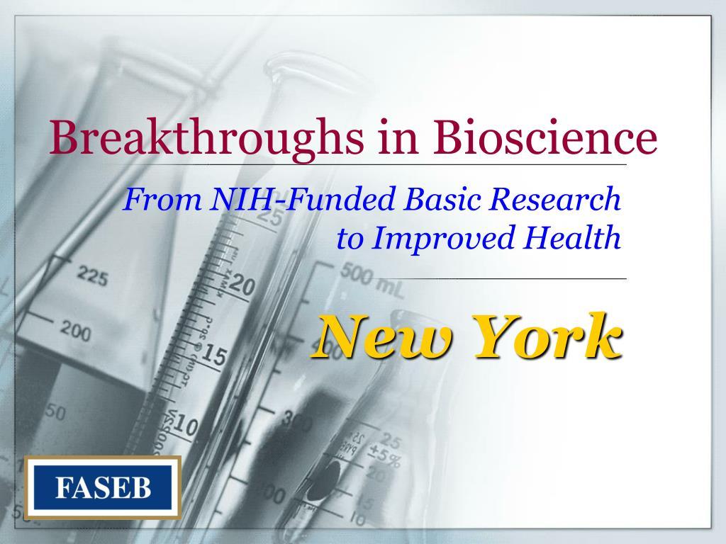 breakthroughs in bioscience l.