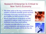 research enterprise is critical to new york s economy