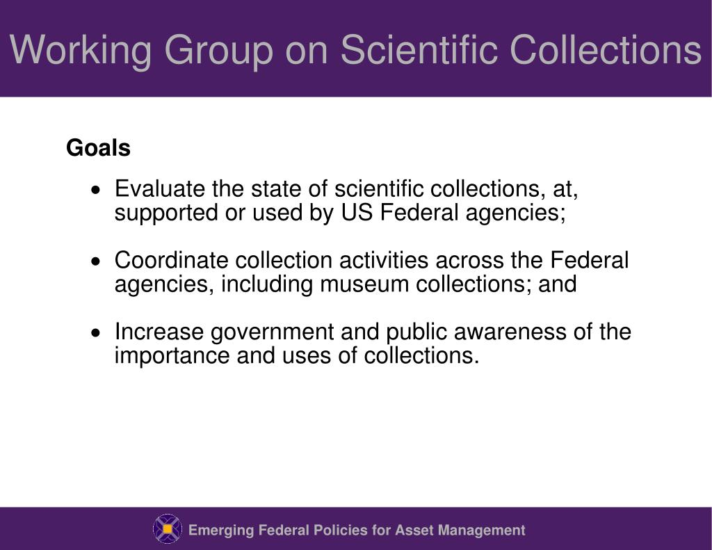 Working Group on Scientific Collections