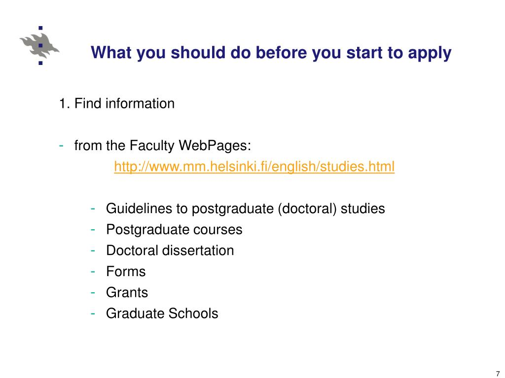 What you should do before you start to apply