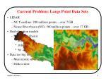 current problem large point data sets