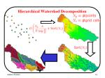 hierarchical watershed decomposition