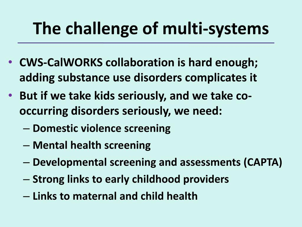 The challenge of multi-systems