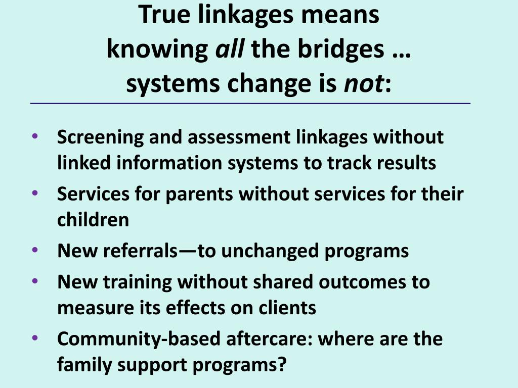 True linkages means