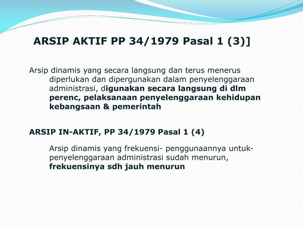 ARSIP AKTIF PP 34/1979