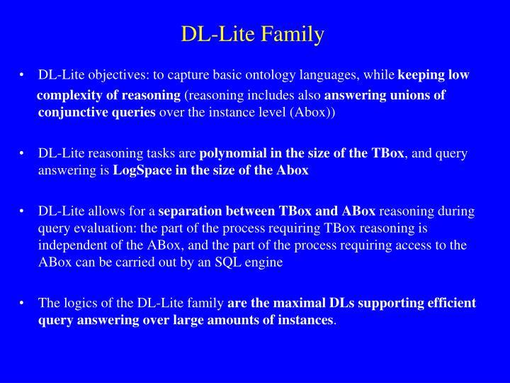 DL-Lite Family
