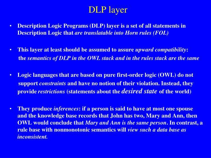 DLP layer