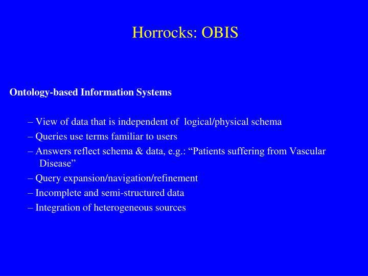 Horrocks: OBIS