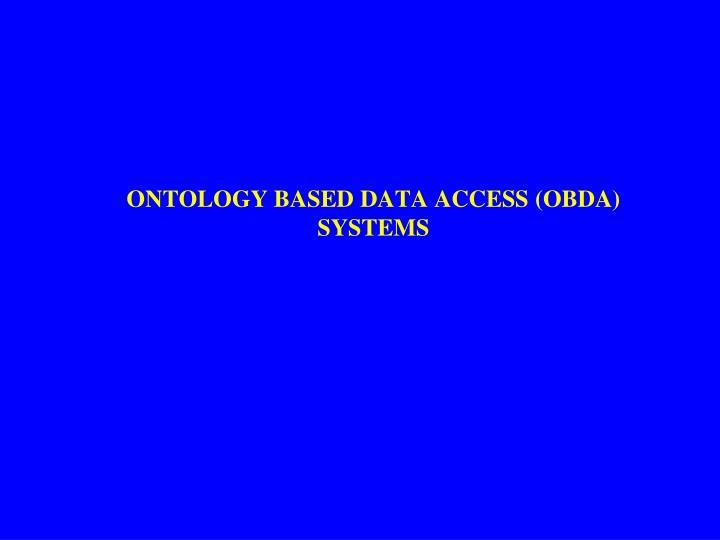 Ontology based DATA