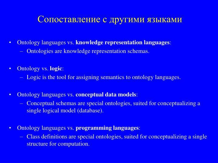 Сопоставление с другими языками