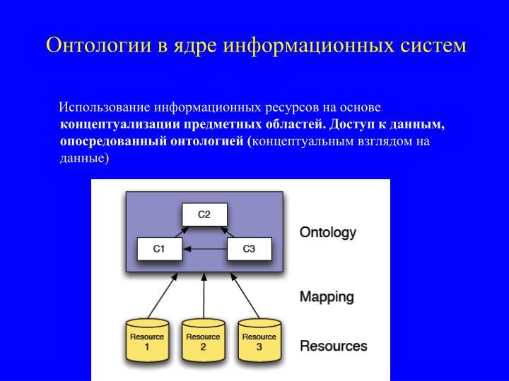 Онтологии в ядре информационных систем