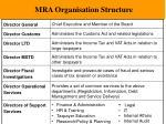 mra organisation structure