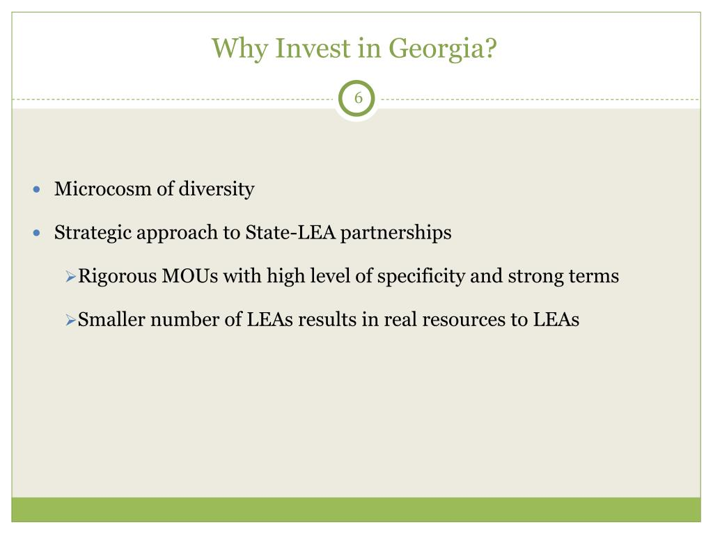 Why Invest in Georgia?