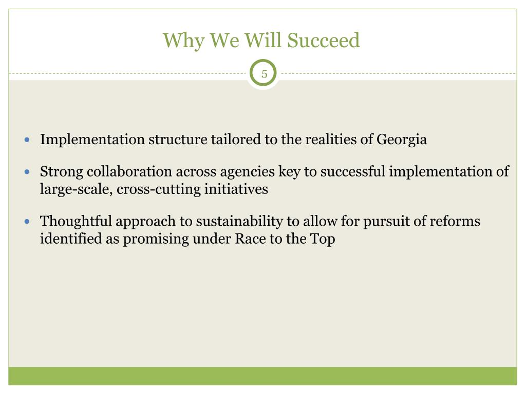 Why We Will Succeed