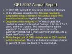 ori 2007 annual report