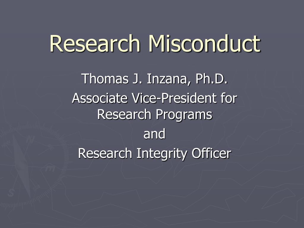 research misconduct l.
