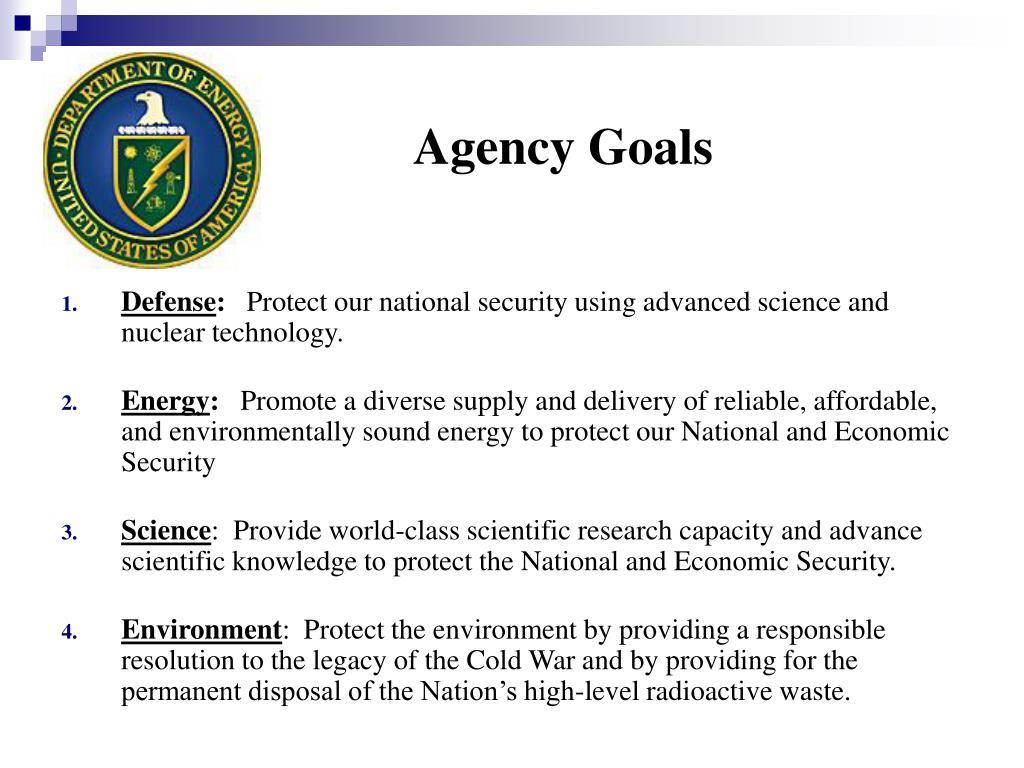 Agency Goals