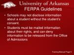 ferpa guidelines