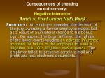 consequences of cheating on e discovery negative inference arndt v first union nat l bank