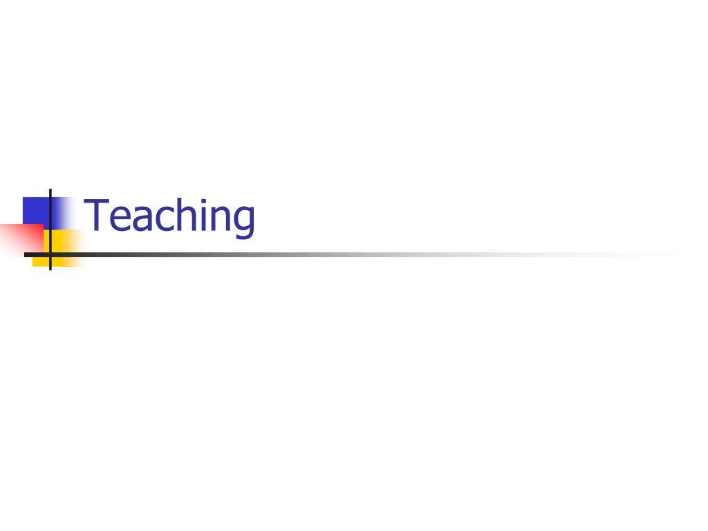 teaching l.