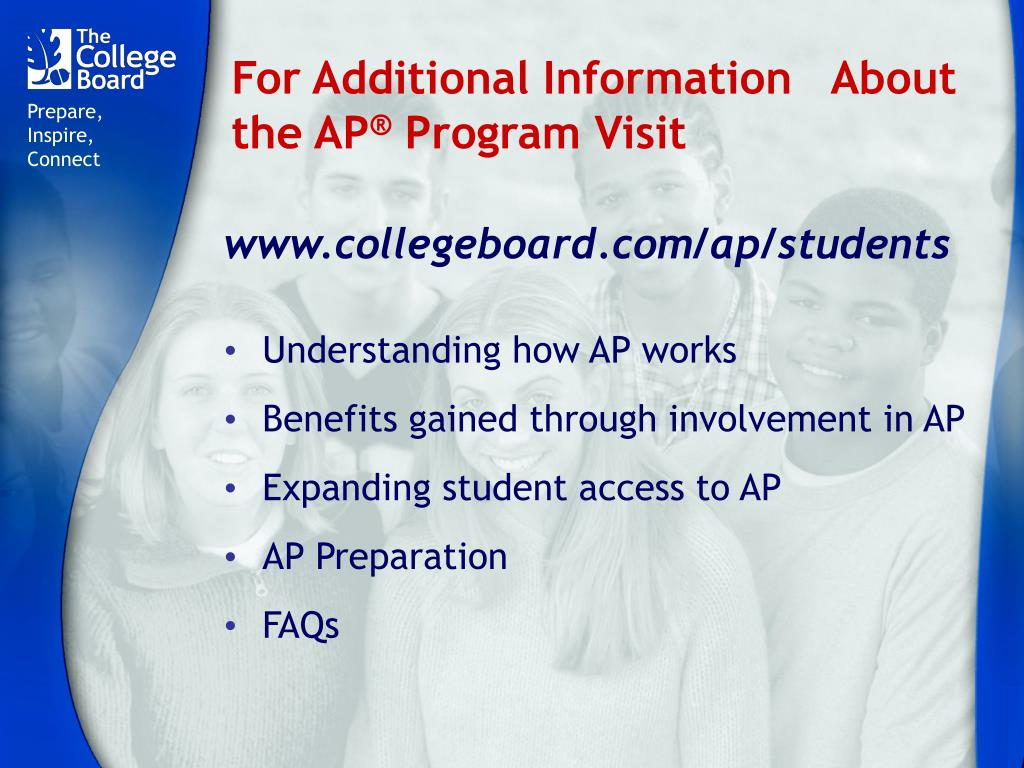 For Additional Information   About the AP