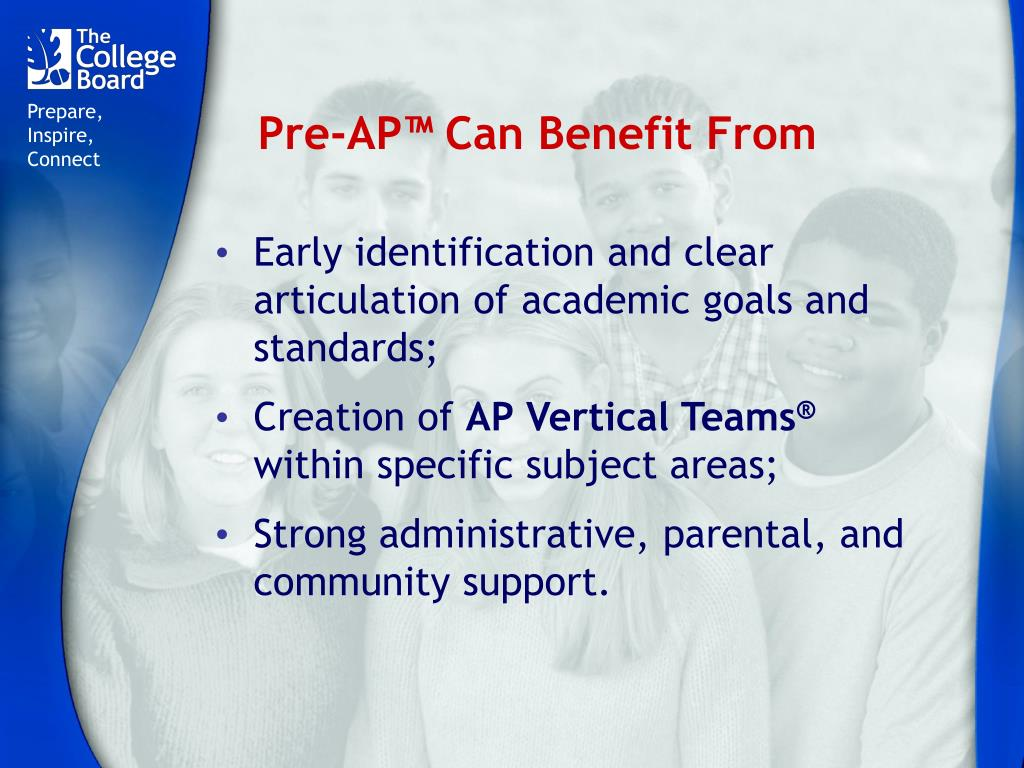 Pre-AP™ Can Benefit From