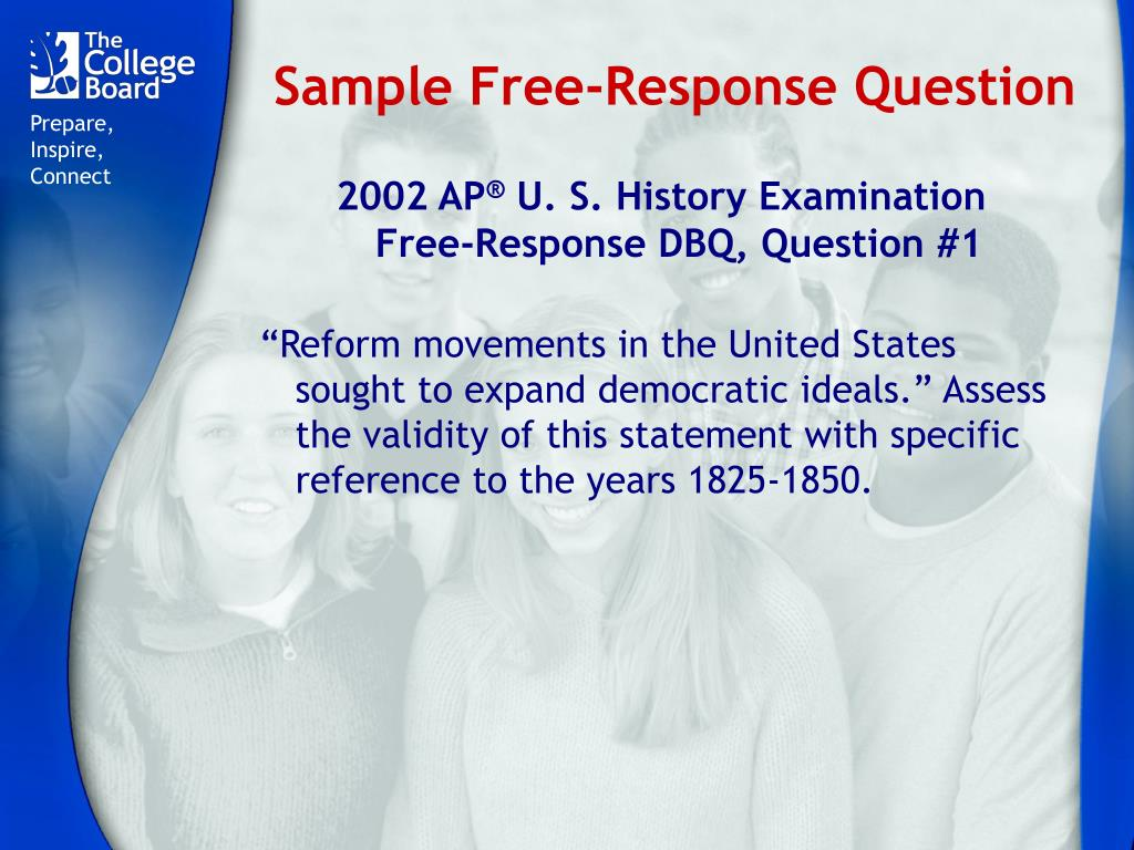 Sample Free-Response Question