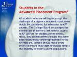 students in the advanced placement program
