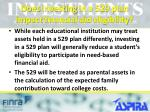 does investing in a 529 plan impact financial aid eligibility
