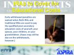 iras to cover for educational costs