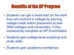 benefits of the ap program