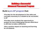building a successful advanced placement program20