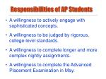responsibilities of ap students