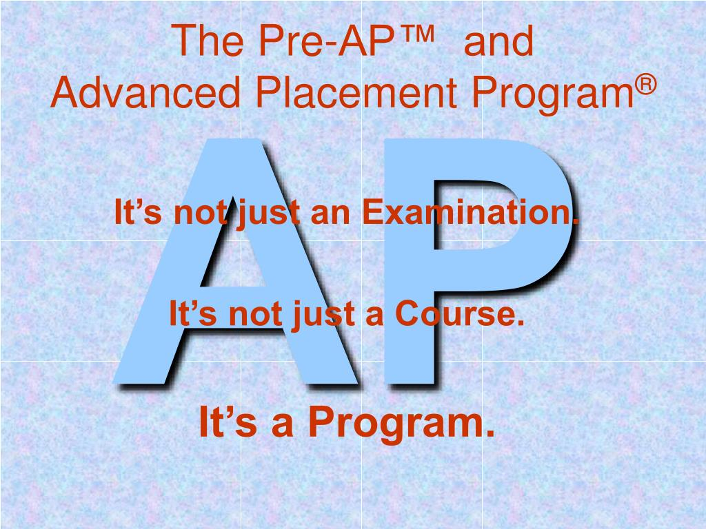 the pre ap and advanced placement program l.
