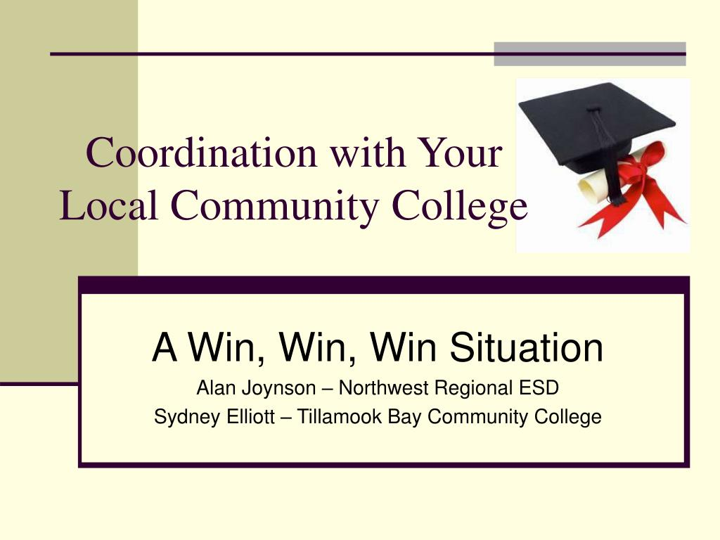 coordination with your local community college l.