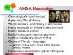 amsa humanities