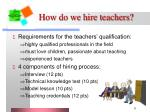 how do we hire teachers