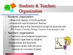 students teachers organization