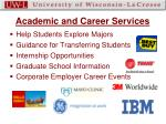academic and career services