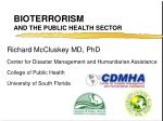 bioterrorism and the public health sector