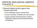 critical biological agents category b